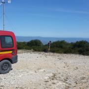 Le signal de l'Alaric - Les pompiers en action